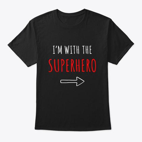 Funny Superhero T Shirt Halloween Black T-Shirt Front
