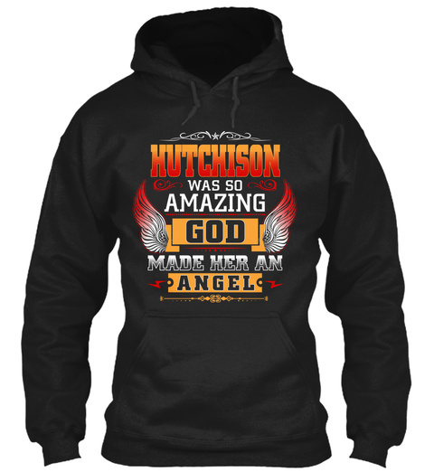 Hutchison Angel  Black T-Shirt Front