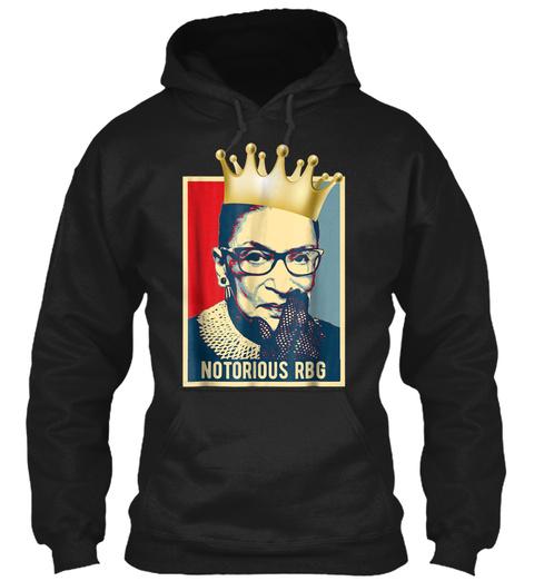 Vintage Notorious Rbg Tshirt Ruth Bader  Black T-Shirt Front