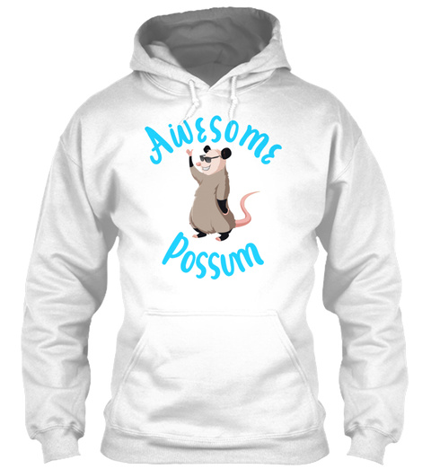 Awesome Possum White T-Shirt Front