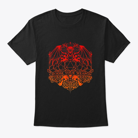 Dnd Lgbt Prid Polyhedral Dice Set Black T-Shirt Front