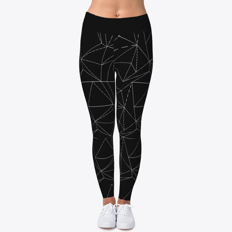 Geometric Leggings Black Kaos Front
