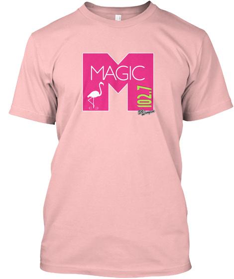 Wmxj Radio Fm Miami Pale Pink T-Shirt Front