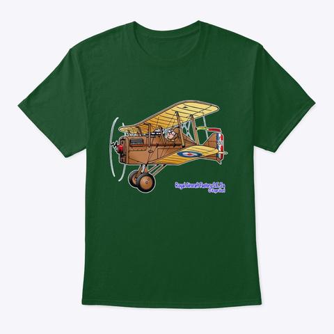 Raf S.E.5a Cartoon Deep Forest T-Shirt Front