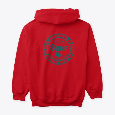 #Surf #Mind #Movement Red T-Shirt Back