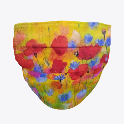 Bright Floral Poppies Standard T-Shirt Front