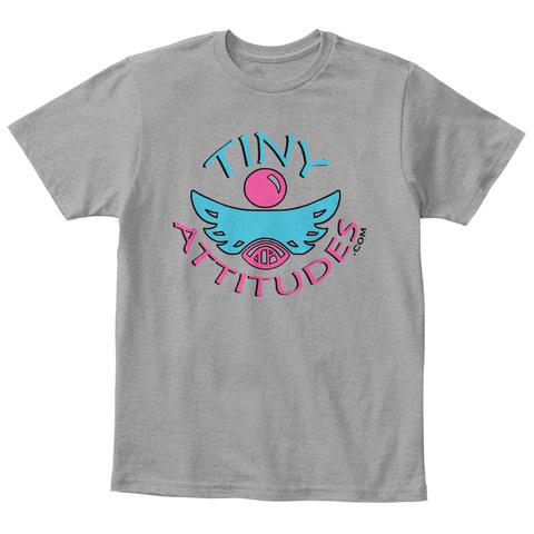 Kids T Shirt Light Heather Grey  T-Shirt Front