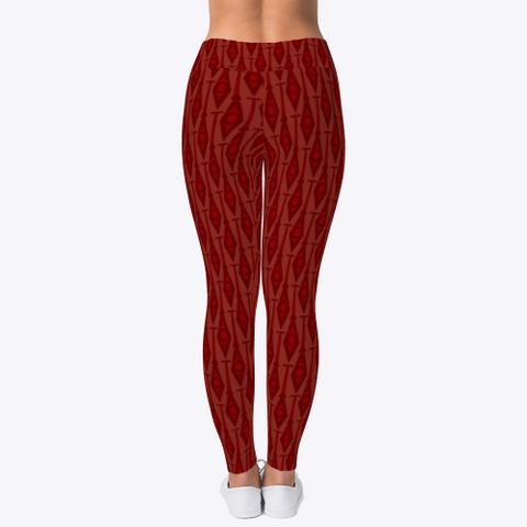 Paddles In Dark Red Leggings Dark Red T-Shirt Back
