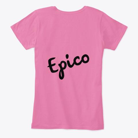 """Lu Lu Lunay Lightning"" Design True Pink T-Shirt Back"