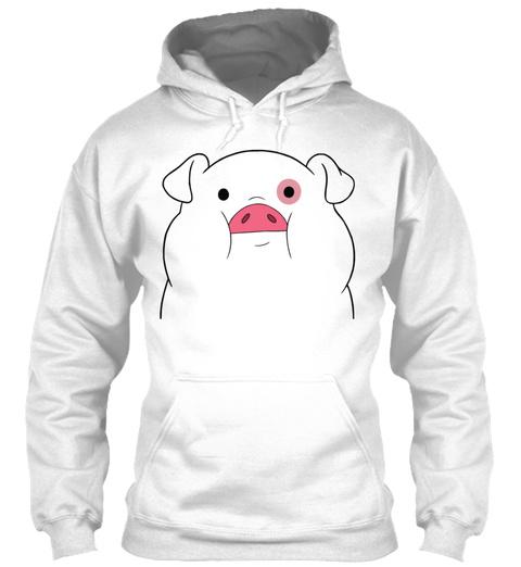 Pato Gravity Falls Trans White T-Shirt Front