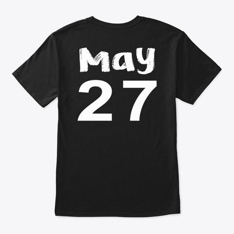 May 27   Gemini Black T-Shirt Back