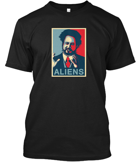 Ancient Aliens Giorgio A. Tsoukalos Black T-Shirt Front