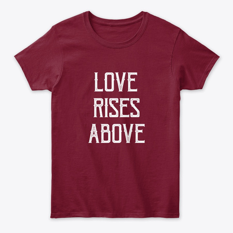 Love Rises Above | Soulful Tee Cardinal Red T-Shirt Front