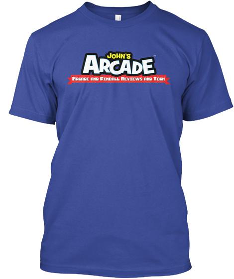 Johns Arcade Arcade And Pinball Reviews And Tech Deep Royal T-Shirt Front