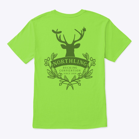 Northling™ Camping Buck Style 1 (Ob/Mp) Lime T-Shirt Back