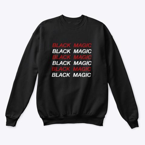 Black Magic Crewneck Sweatshirt Black Sweatshirt Front