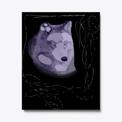 Splotched Wolf Black T-Shirt Front