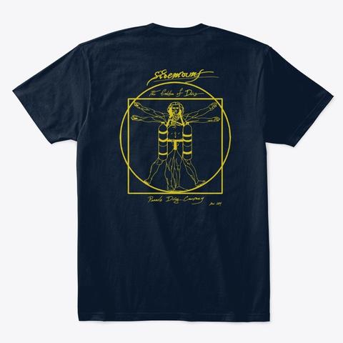 Pdc Sidemount Evo Men's New Navy T-Shirt Back