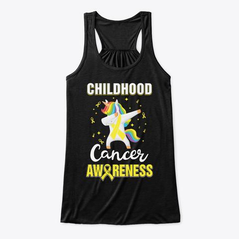 Inspirational Childhood Cancer Awareness Black T-Shirt Front