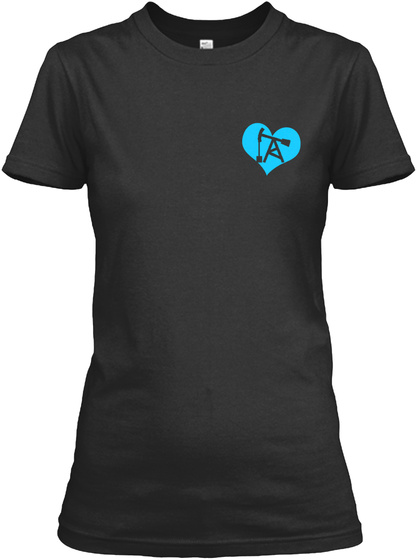 My Oil Riggers Heart Black T-Shirt Front