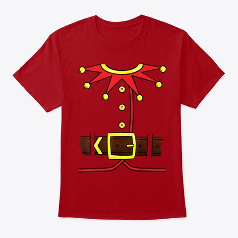 Elf Santa Helper Christmas Novelty Shirt Deep Red T-Shirt Front