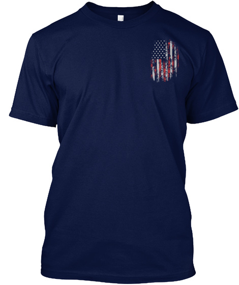We Kneel For The Fallen T Shirt! Navy T-Shirt Front