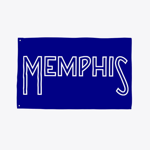Memphis Flag Deep Navy T-Shirt Front