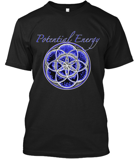 Potential Energy Black T-Shirt Front
