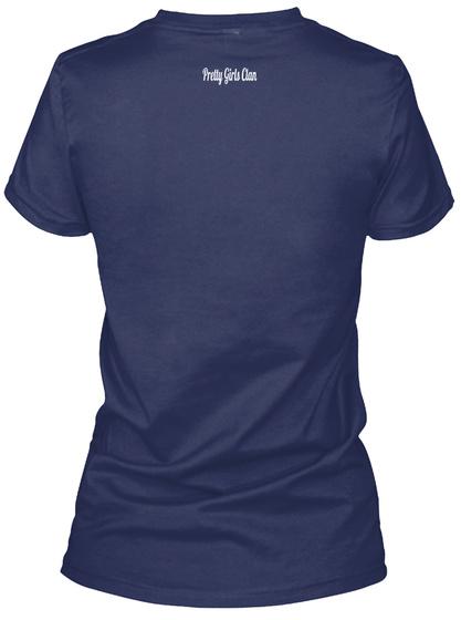 Pretty Girls  Clan Navy Women's T-Shirt Back