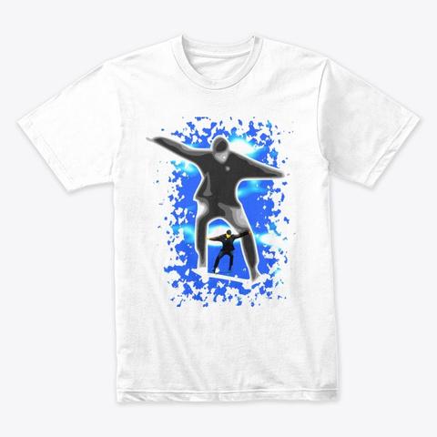 Skateboarder White T-Shirt Front