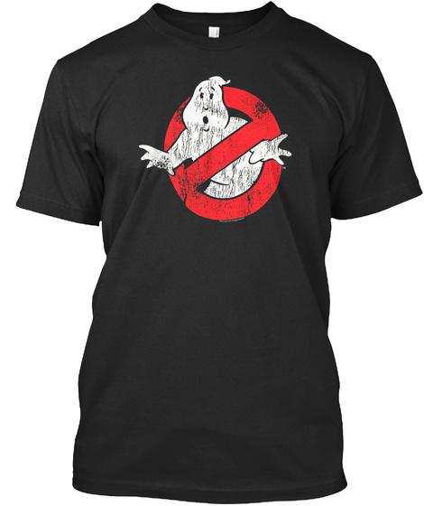 Ghostbusters Vintage Logo T Shirt Black T-Shirt Front