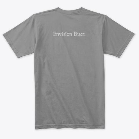Envision Peace Beach Sunset Premium Heather T-Shirt Back