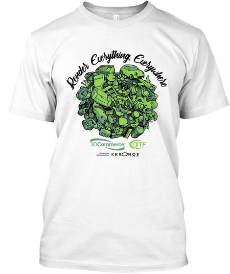 Reuder Everything, Everywhere 3 D Commerce Khronos White T-Shirt Front