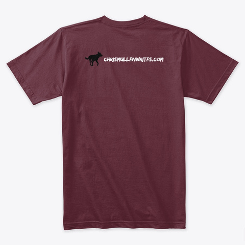 Rowdy  Limited Edition Maroon T-Shirt Back