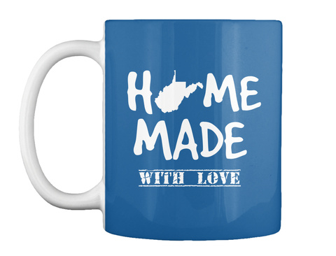 Home Made With Love Dk Royal Mug Front