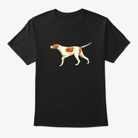 Pointer Dog Pointing English Pointer Black T-Shirt Front