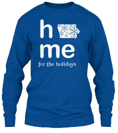 Home For The Holidays Royal T-Shirt Front