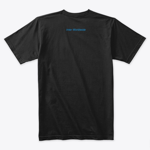 Inter Collection (Blue) Black T-Shirt Back