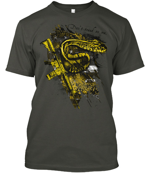 Don't Tread On Me. Smoke Gray T-Shirt Front