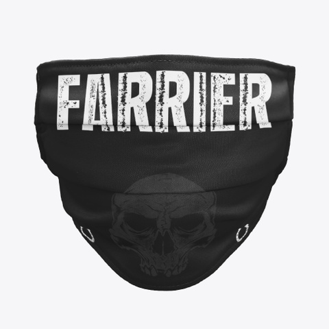 Farrier Mask   Get One Now Black T-Shirt Front