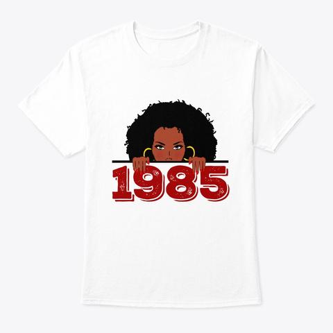 Black Queen 1985  34th Birthday Shirt White T-Shirt Front
