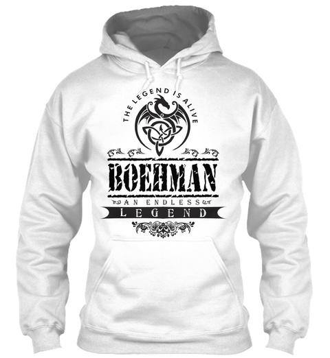 The Legend Is Alive Boehman An Endless Legend White T-Shirt Front