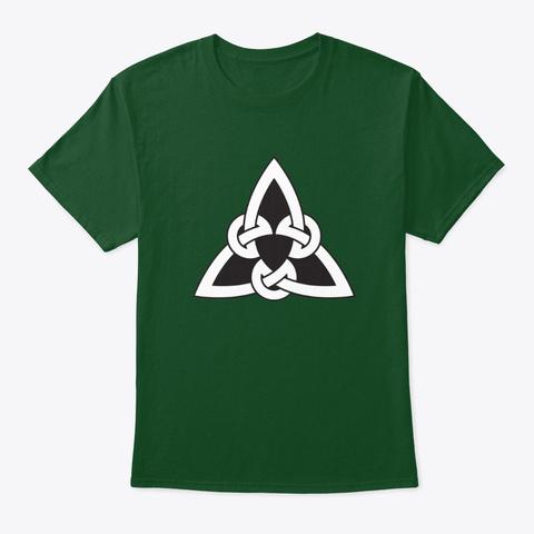 Celtic Knot Interlocking Tribal Art Deep Forest T-Shirt Front