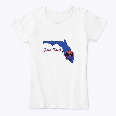 Palm Beach Florida White T-Shirt Front
