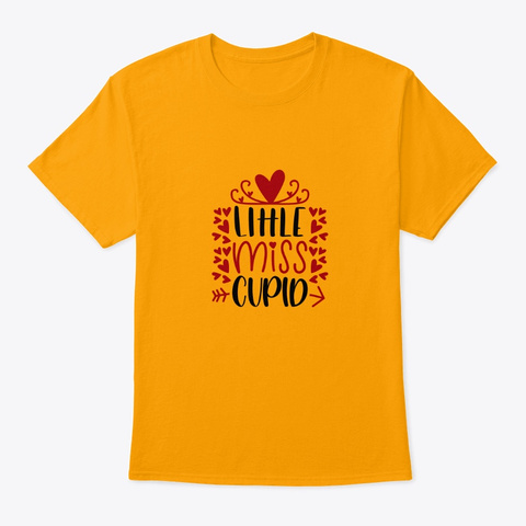 Little Miss Cupio Gold T-Shirt Front