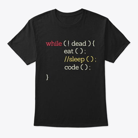 Eat Sleep Code Computer Programmer Black T-Shirt Front