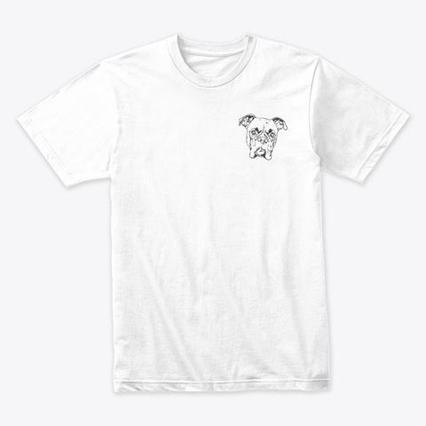 Boxer Line Art White T-Shirt Front