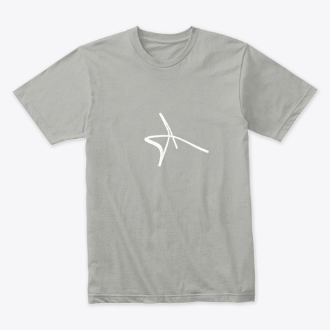 Logo Tee White Light Grey T-Shirt Front