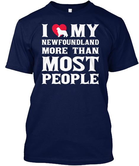 Newfoundland Navy T-Shirt Front