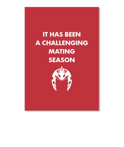 Challenging Season Sticker [Usa] #Sfsf Bright Red Sticker Front